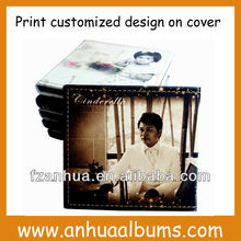 Customized Leather Printing Wedding CD Case dvd box