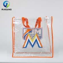 USA Baseball Union Clear PVC Tote Bag Customized Printed for Gift