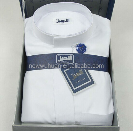 High quality Arabic thobe muslim clothing for men al dafafah saudi thobe