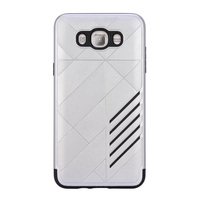 free sample silver color hybrid pc tpu armor mobile phone case for Samsung Galaxy J710