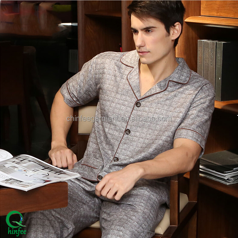 Sleepwear Bamboo Pajamas For Men Home Wear