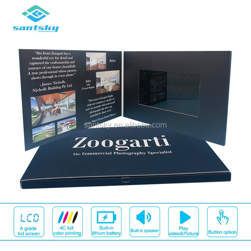 7 Inch Digital Screen Lcd Video Brochure HD Screen 3D Video Book Booklet