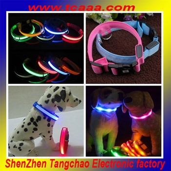 purple led pet collar for dog