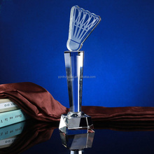 MH-JB138 Custom Badminton Sports Crystal Trophy Award