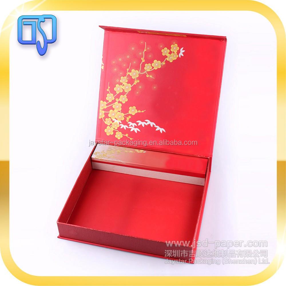 Elegant Looking Magnetic Flip Open Wedding Invitation Box China ...