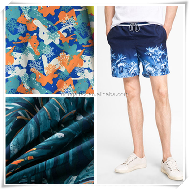 surfing fans boardshort summer beach pants fabric for summer pants/ beach pants/boardshort