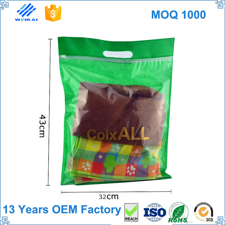 PE Valve Shopping Zipper Plastic Bag