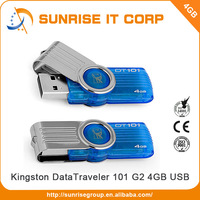 Blue 4GB Kingston usb flash disk