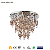 NICE Lighting Recessed Chrome Spot Crystal