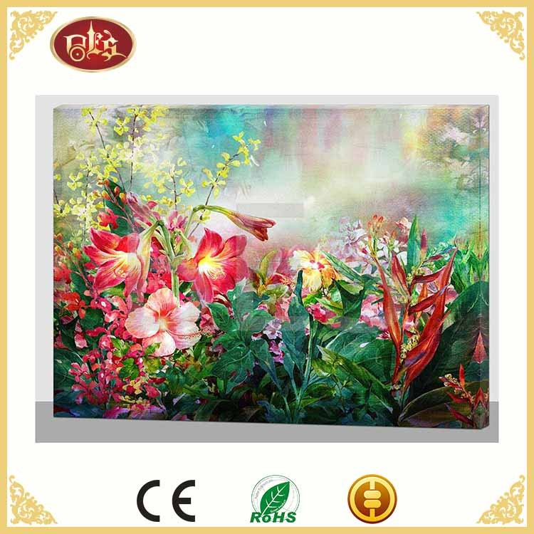 floral wall art picture with led light , large pictures of flowers