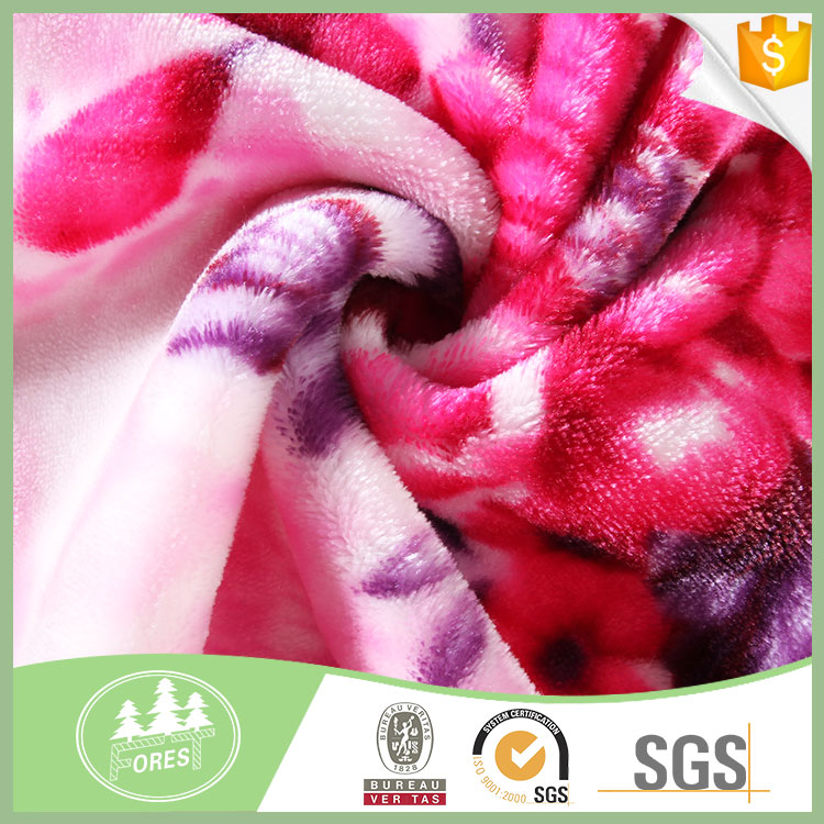 For Home-Use 100 Polyester Anti-Pilling Printed Fleece Fabric