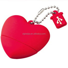 Custom Red Chilli Heart Shape 4GB/8GB USB Flash Drives Stick