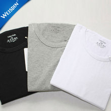China wholesale cheap custom short sleeve plain breathable 100% cotton blank mens t shirt with no tags