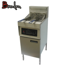 Stainless steel electric deep fat fryer with oil valve