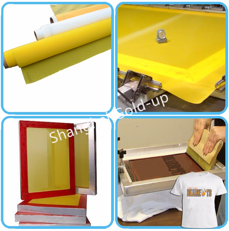 120T/306 mesh polyester screen printing mesh / roll silk fabric for textile printing