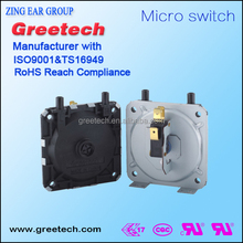 Greetech 5A SPDT and SPST Adjustable Differential Gas and Air Low Pressure Switch