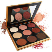 Wholesale Private Label Makeup Eyeshadow Palette Custom 9 Colors Matte Eye Shadow Palette No Brand Eyeshadow Cosmetic