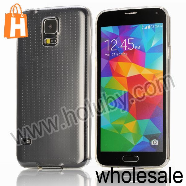 Ultra-slim Transparent Soft TPU Back Cover Case for Samsung Galaxy S5 GT-19600 i9600