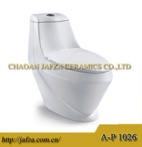 1026 Popular floor mounted AREEJ sanitary ware wc toilet, Golden Dragon one piece toilet, washdown ceramic toilet