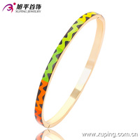 51433- xuping new designs 18k gold plated hinged enamel bangle bracelets