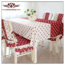Fresh dot tablecloth Simple modern tablecloth Printed polyester cotton tablecloth