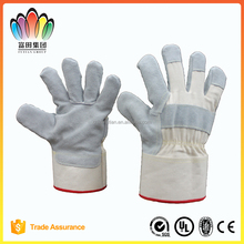 FT SAFETY Light Color Top Cow Split Leather Cut-resistant Gloves,Knitted Liner