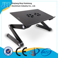 Special design cheap folding portable computer desk with 5V USB fans