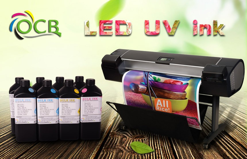 ocbestjet Print Directly Printing on Smooth Media UV LED Coating Inkjet Printer Curable Ink For Epson DX4 DX5 DX6 DX7 UV Ink