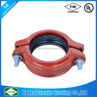 Fm /UL Approved Ductile Iron High Quality Fittings Painted RAL3000 Light Duty Rigid Coupling