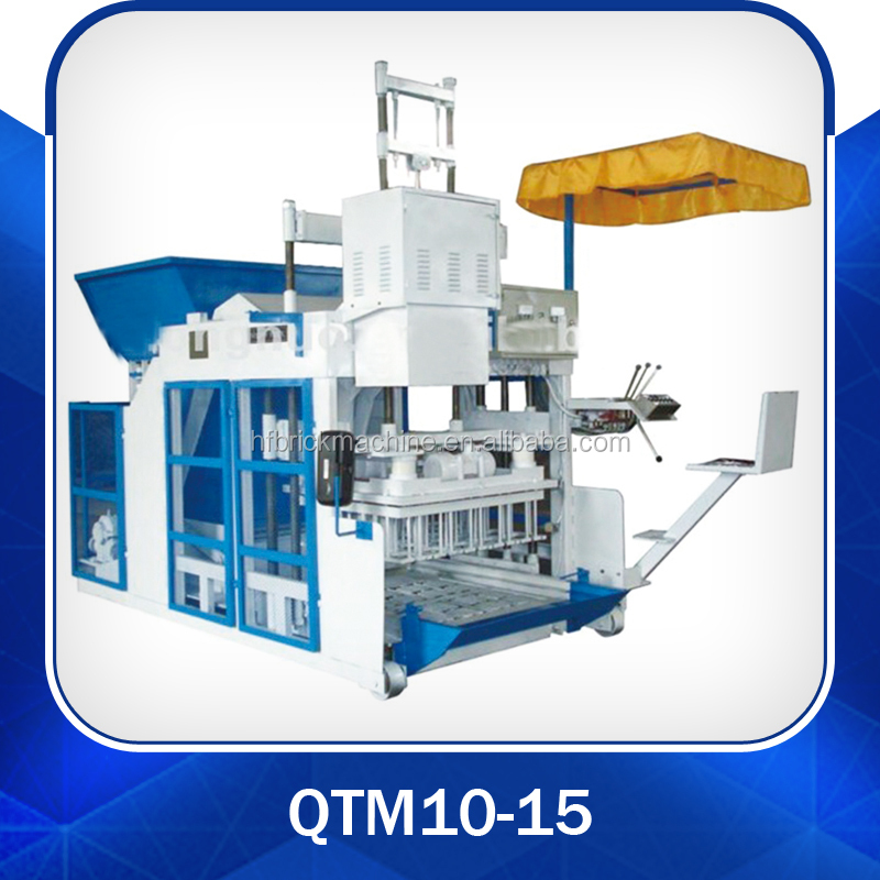 moving block machine QTM10-15 egg laying block machine mobile making machine