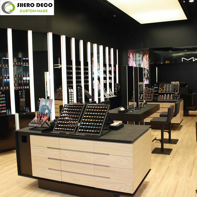 High Quality Wholesale Shop Interior Design Cosmetic Store Layout
