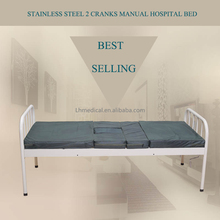 Cheap adjustable 2 cranks manual hospital bed for sale