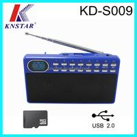 FM auto scan alarm clock radio with USB / TF mp3 player KD-S009