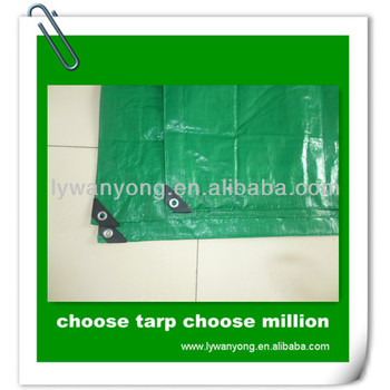 Heavy Duty Green HDPE Water Proof Fabric Tarpaulin