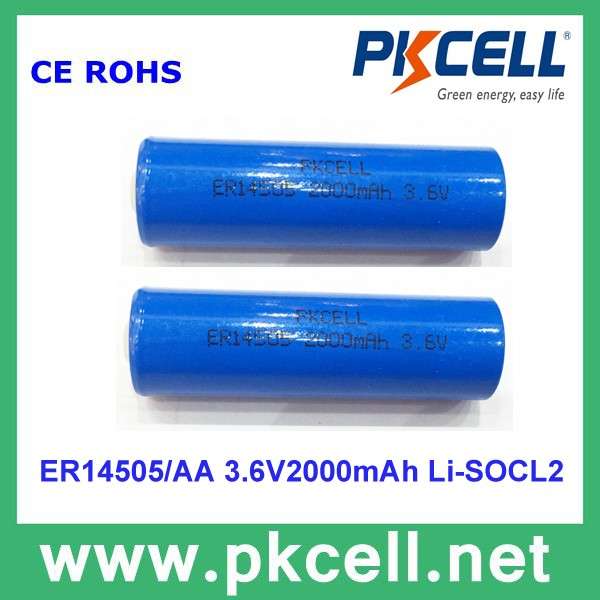 flat cell lithium ion battery er9v 9v lithium thionyl chloride battery 1200mah for electronic meter