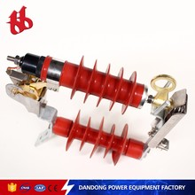 Alternating current outdoor drop type no gap metal zinc oxide lightning arrester