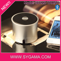 77*77*61mm super bass bluetooth audio receiver for stage speaker plastic audio portable amplifying speaker