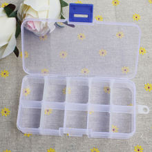10/15 Slots Adjustable Storage Box Plastic Case Home Organizer Jewelry Beads Boxes