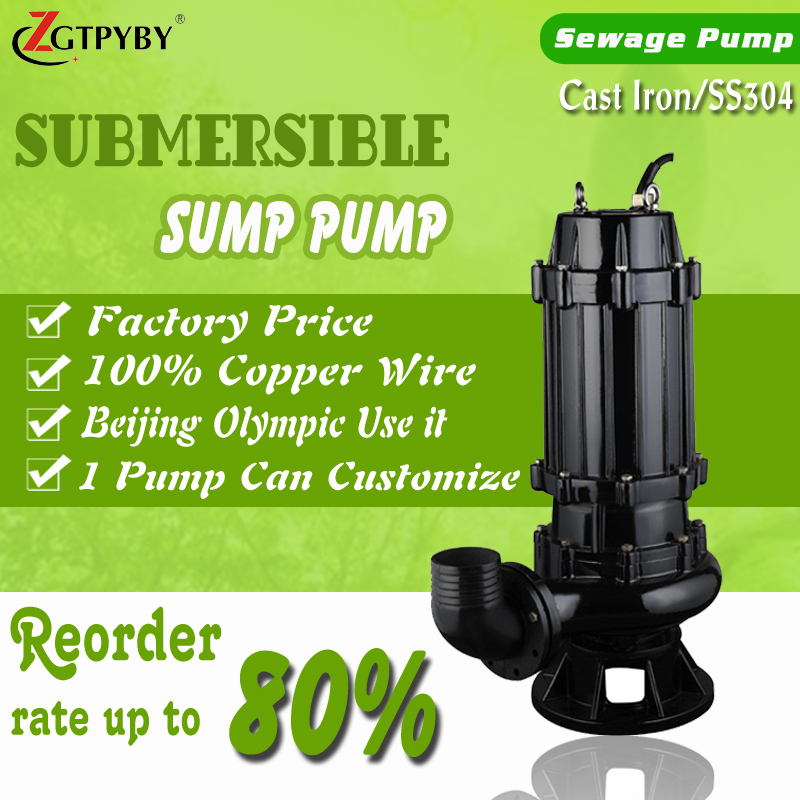 5 hp sewage pump for waste water ejector pump system