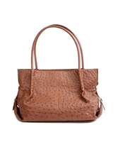 ABEY BAG 6106 Ostrich leather handbag