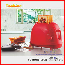 Best selling Logo toaster CT-819G with different burned logo