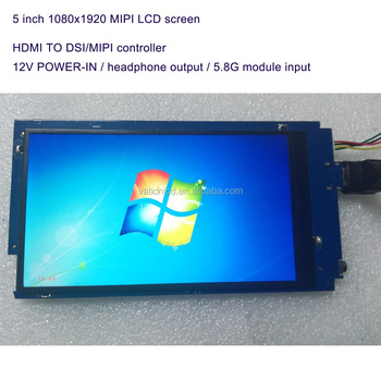 Hand-held portable device display 1080x1920 MIPI SPI controller with HDMI and Wifi support