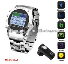 2011 wirst watch phone with Single SIM card can work in USA/Europe