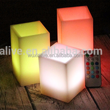 Set of 3 remote controled color changing Wax Led Candle