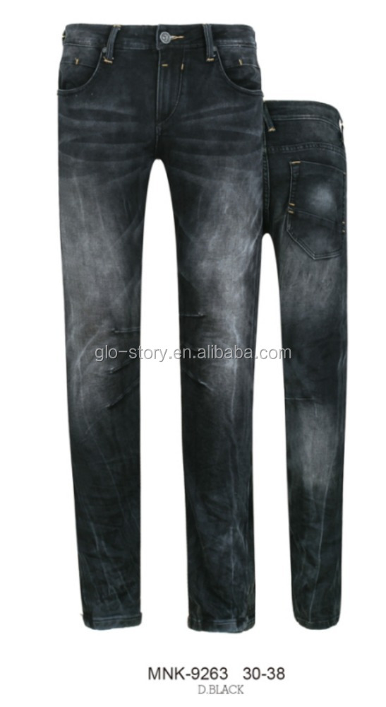 Glo-story all denim pants jeans embroidered in factory price cheap
