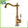 FLG polished brass luxury brass basin faucet deck mounted