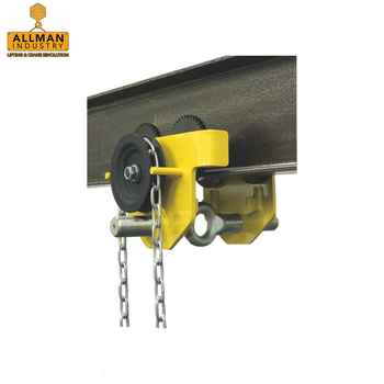 ALLMAN 0.5ton up to 20ton manual hoist suspension adjustable h beam lifting trolley