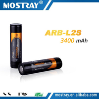 Original new ARB-L2S 3400mAh 3.7v 18650 li-ion protected rechargeable battery