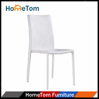 Wholesale Neat Design Stackable Manufactory UKFR Standard Modern Metal PVC Leather Office Chair