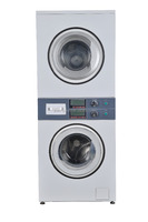 10kg+10kg stack washer dryer with COIN or IC card operation